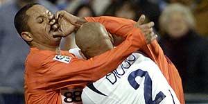 Pelea de Diogo y Luis Fabiano 1