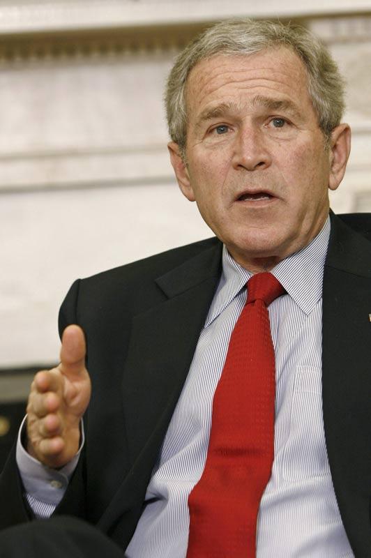 George W. Bush, el pasado lunes, en la Casa Blanca
