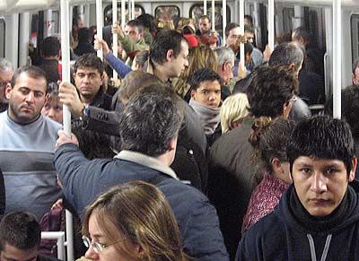 Aglomeracions a la Línia 1 del Metro