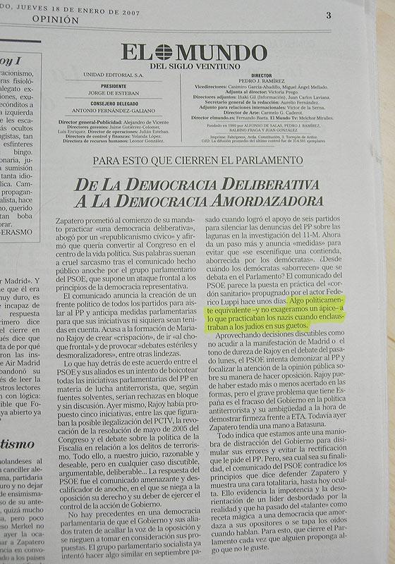 El polémico editorial de 'El Mundo'