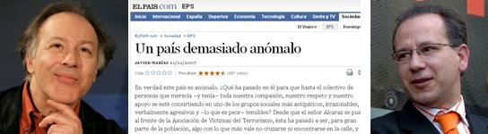 La AVT se querella contra Javier Marías y El País
