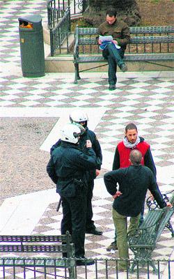 Los antiglobalización ya empiezan a tomar Sevilla