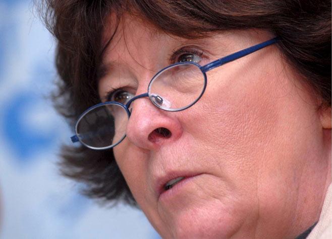 La Alta Comisionada de DDHH de la NU, Louise Arbour