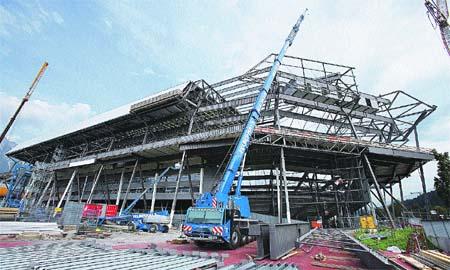 Trabajando por un estadio más grande