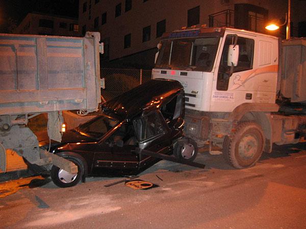 Accidentes en la calle Camino del Molino. en Arganda