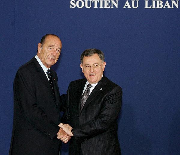 Chirac y Siniora