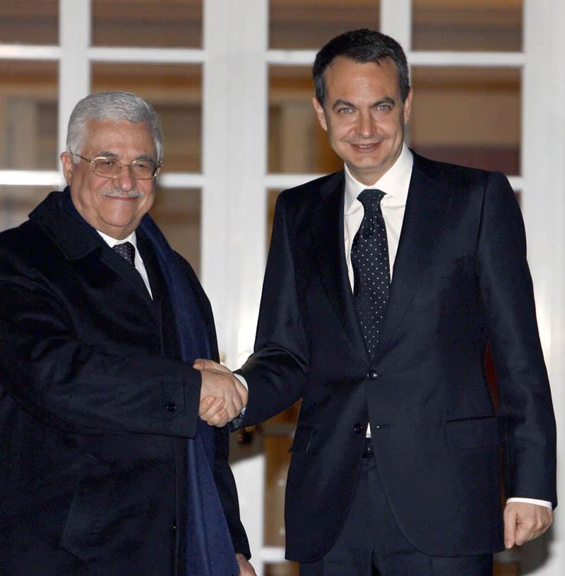 Abás y Zapatero, juntos en la Moncloa