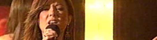 Lorena, durante una actuación