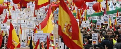 Marcha convocada por el Fotro de Ermua en Madrid