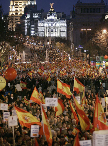 Marcha Foro de Ermua, en Madrid