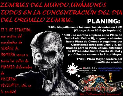 Cartel Oficial del Día del Orgullo Zombie