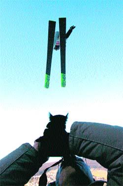 Volando con los esquís