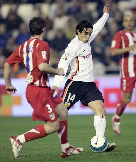Vicente, durante el partido contra el Atlético de Madrid