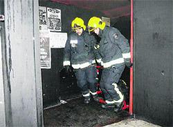Fuego en un bar del Orzán