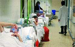 La Paz bate su récord de enfermos en los pasillos