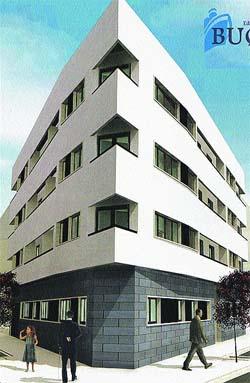 Edificio con diseño original