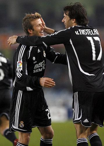 Van Nistelrooy y Beckham