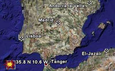 El epicentro del terremoto