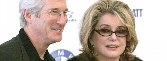 Richard Gere y Catherine Deneuve