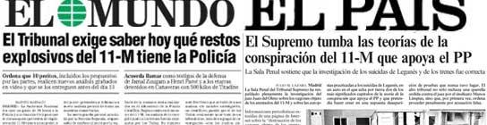 La batalla entre los medios. (El Mundo / El País)