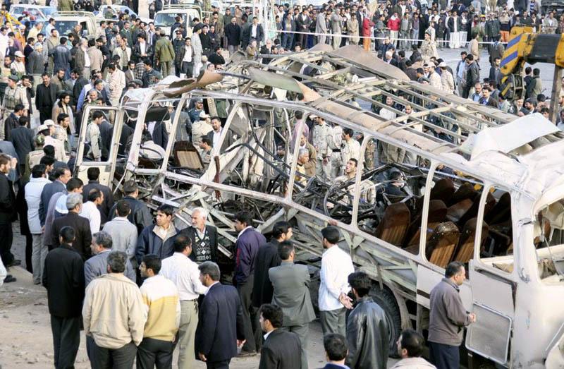Bomba en un autobús en Irán