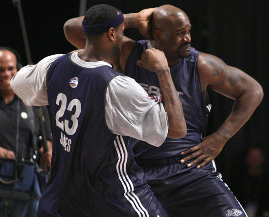 Shaquille O'Neal y Lebron James