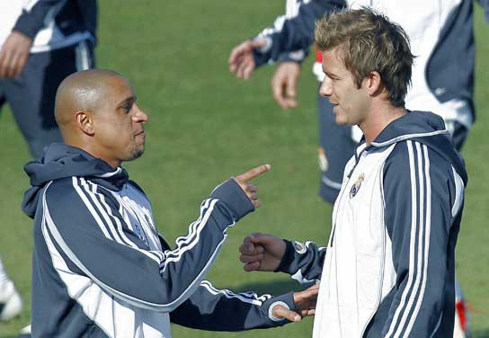 Roberto Carlos y Beckham