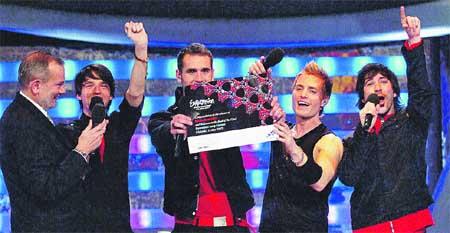 os chicos de Nash, a Eurovisión