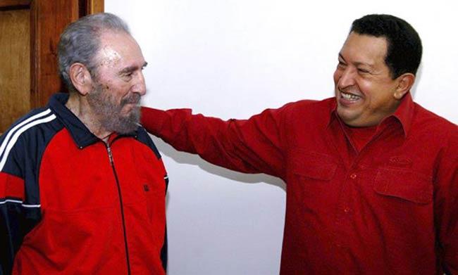 Fidel Castro y Hugo Chávez, durante su encuentro el pasado 29 de enero