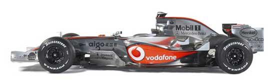 Vista lateral del McLaren.