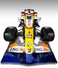 Vista frontal del Renault.