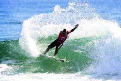 Slater manda sobre la ola