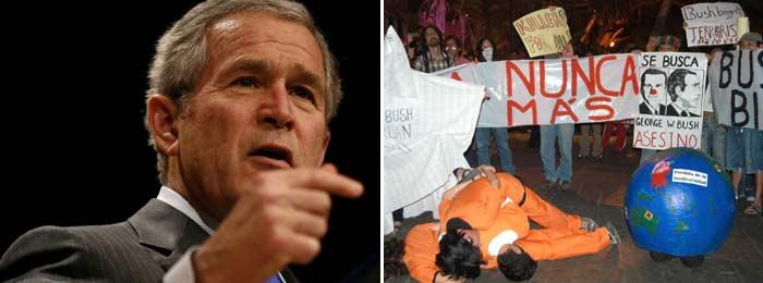 Visita de Bush a Colombia