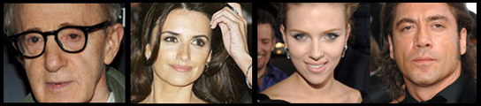 Woody Allen, Scarlett Johansson, Penélope Cruz, Javier Bardem