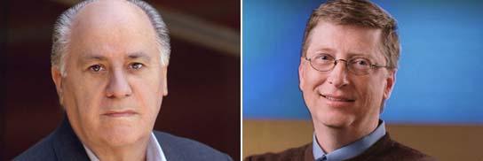 Amancio Ortega y Bill Gates, en la lista de ricos mundiales