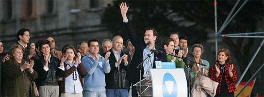 Rajoy en el estrado