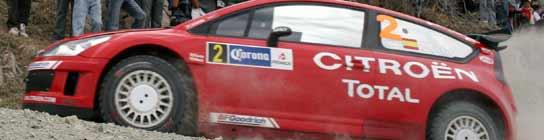 Dani Sordo conduce su Citroen C4 durantel el Rally de Mexico