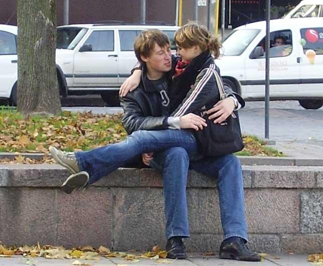 Jóvenes cariñosos