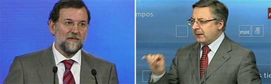 Mariano Rajoy y José Blanco