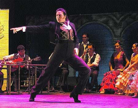 Tablao flamenco, en el Teatro Romea