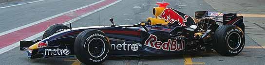 Vista lateral del monoplaza Red Bull.
