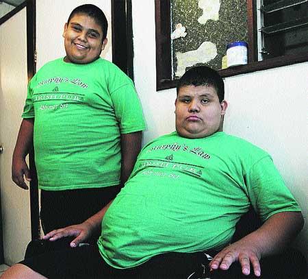 Ayuda para los gemelos obesos