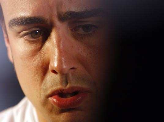 Fernando Alonso durante la rueda de prensa que ofreció en Melbourne.