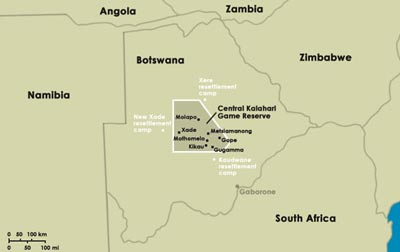 La reserva de Kalahari