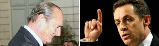 Chirac y Sarkozy