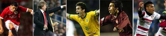 Cristiano Ronaldo, Schuster, Kaká, Cesc y Alves