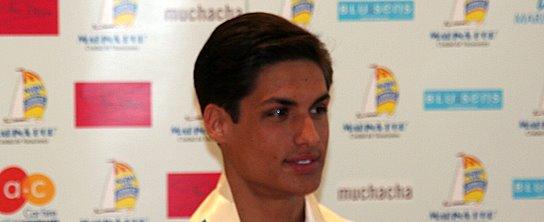 Mister España 2007 durante su primera rueda de prensa