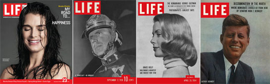 Varias portadas de la revista Life.