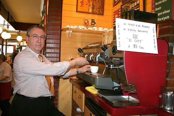 Café a  80 céntimos