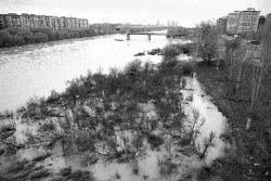 La crecida del Ebro obliga a paralizar varias obras de la Expo